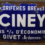 Emaille reclamebord 'Ciney'