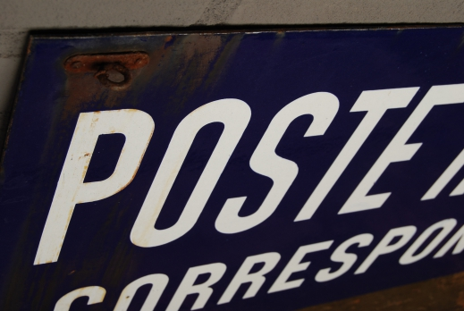 Emaille uithangbord 'Poste rurale' foto 3