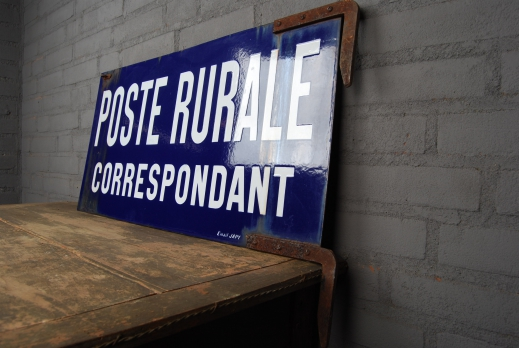 Emaille uithangbord 'Poste rurale' foto 4